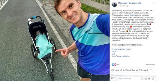 Majobiega - biegający tata - wózek Thule Urban Glide 2